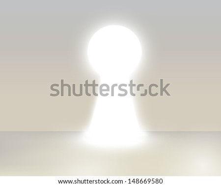 Business Keyhole, vector - stock vector