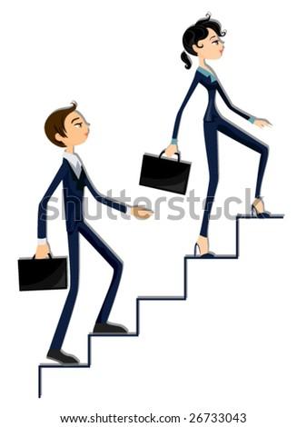 Business Ladder - Vector - stock vector