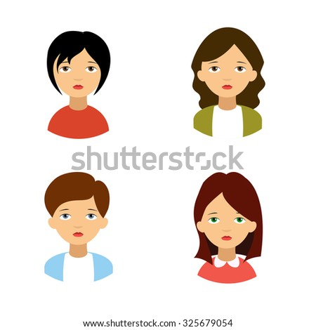 Business lady. Vector avatar. - stock vector