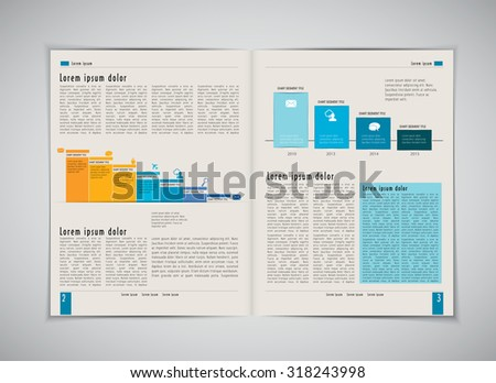 Business layout magazine, vector  - stock vector
