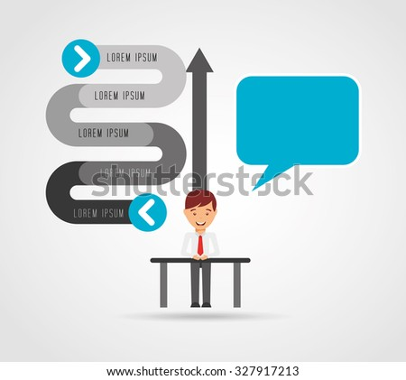 business leadership design, vector illustration eps10 graphic