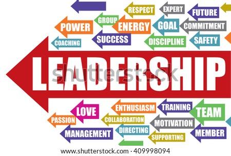 Business Leadership word cloud - stock vector