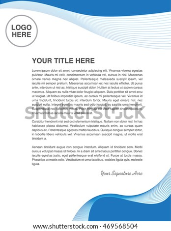 Business Letter Template Swirl