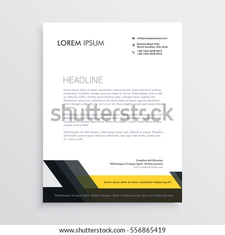letter head design templates