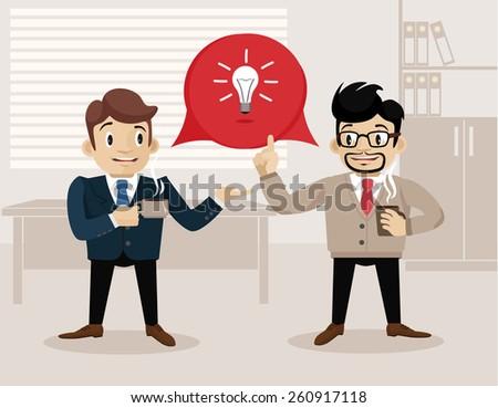 Business life. Vector flat illustration. Good idea - stock vector