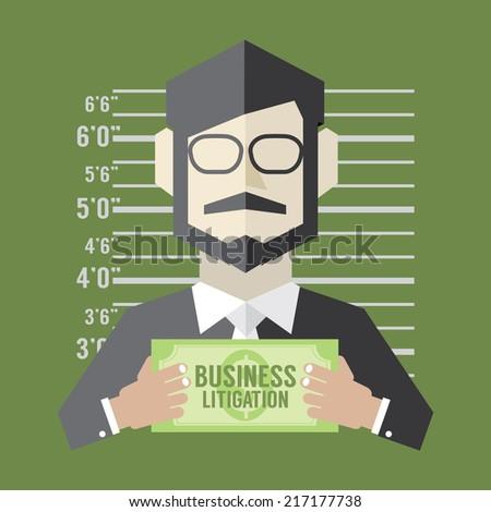 Business Litigation Concept Vector Illustration - stock vector