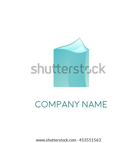 Business Logo Template. Folder with documents. You can use the logo as a radio, TV, and light industry. Vector