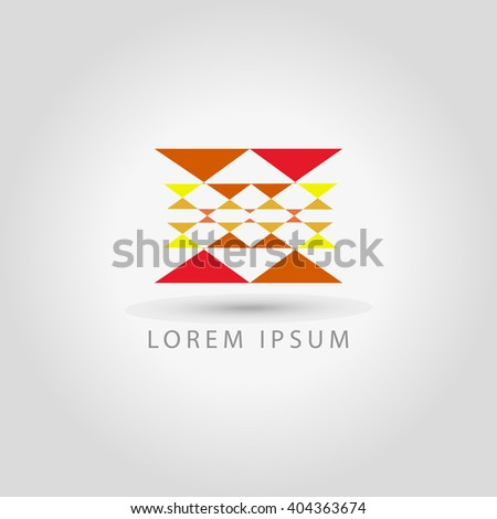 business logo triangles vector sign