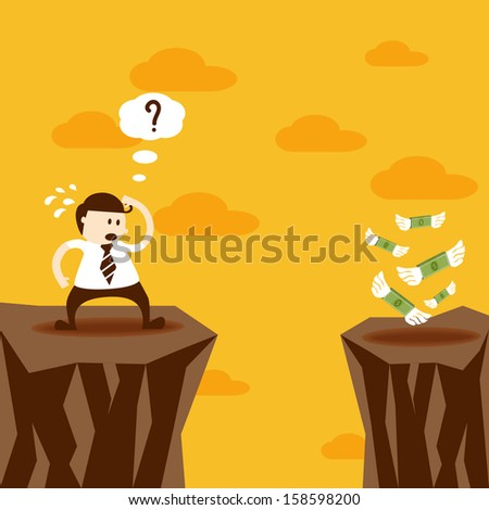 Business man and money, EPS10 vector format - stock vector