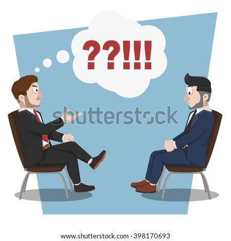 Business man angry consultation