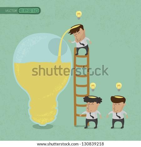 Business man brainstorming , Make Idea , eps10 vector format - stock vector