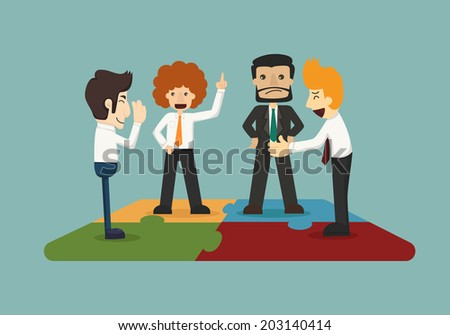 Business man connection  , eps10 vector format - stock vector