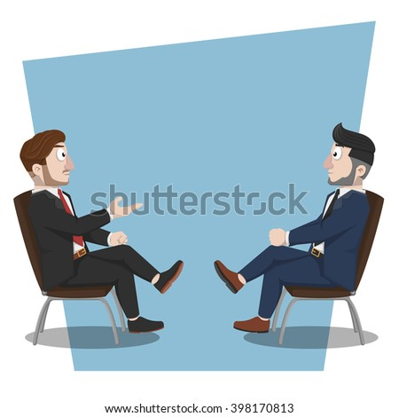 Business man discussion