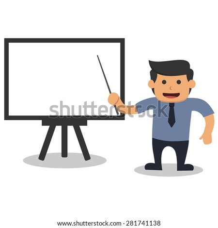 Business man doing presentation