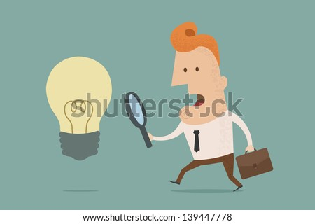 Business man finding idea , eps10 vector format - stock vector
