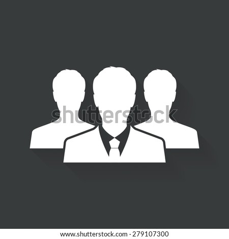 Business man icon, Office people icon - Vector - stock vector