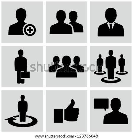 Business man icons - stock vector