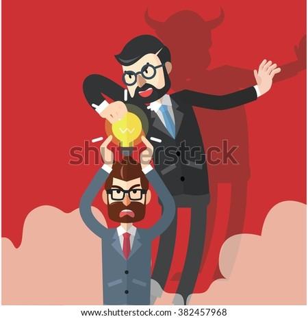 Business man idea stolen - stock vector