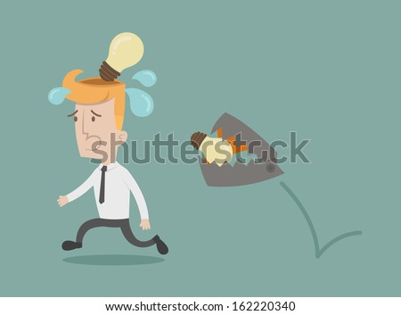 Business man lose idea , eps10 vector format - stock vector