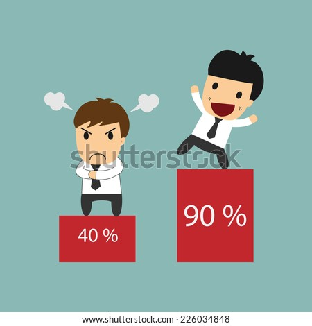 Business man monopoly profit share concept  - stock vector