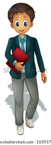 Business man on a white background - stock vector