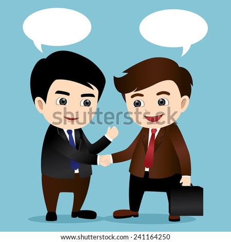 Business man shaking hand - stock vector