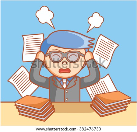 Business man stressed - stock vector