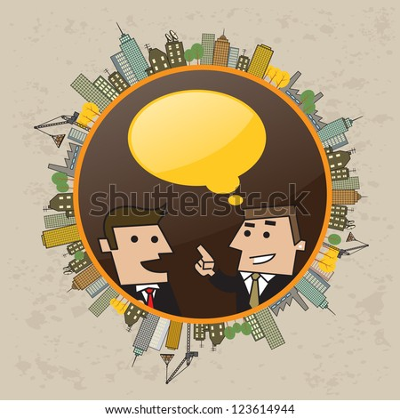 business man talk about world economy and business - stock vector