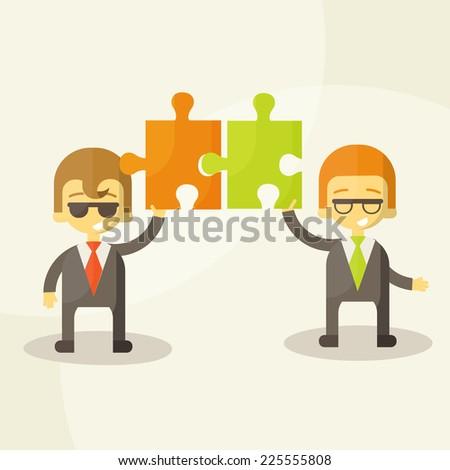 business man  team work, Vector Illustration eps 10 - stock vector
