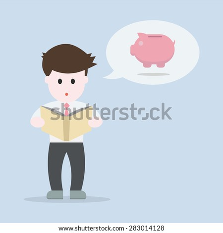 Business man thinking about Investing, EPS10 vector illustration - stock vector