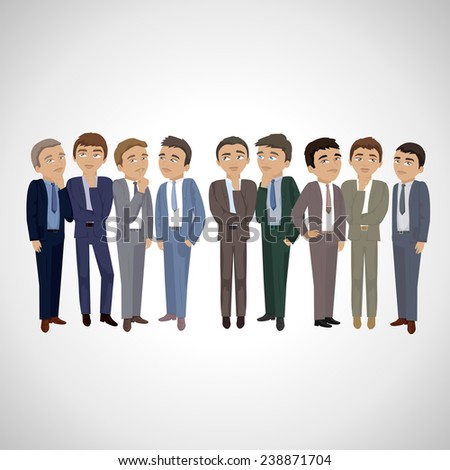 Business Man Thinking - Isolated On Gray Background - Vector Illustration, Graphic Design Editable For Your Design. Business Concept  - stock vector