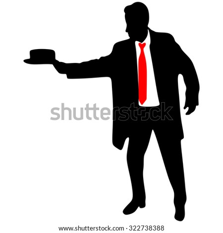 business man throwing his hat  - stock vector