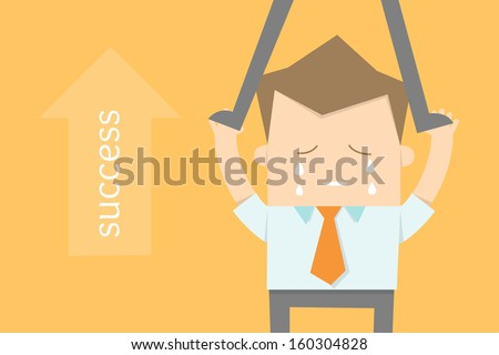 business man wanted career opportunities - stock vector