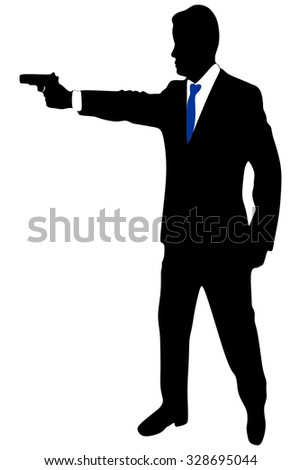 business man with gun