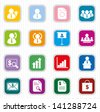 Business management and human resource icons colorful - stock vector