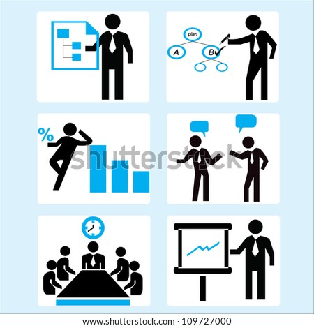 business management and organization management simple icon - stock vector