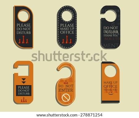 Door Blank Knob Label Photos RoyaltyFree Images Vectors – Consulting Services Door Hanger Template