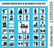 Business management,finance and human resources icon set,Vector - stock vector