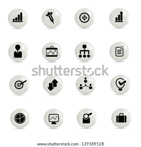Business,management ,icon set,vector - stock vector