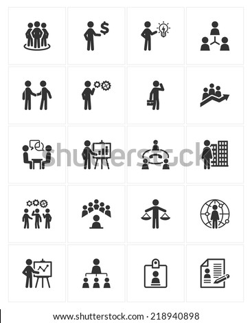 Business Management Icons - stock vector