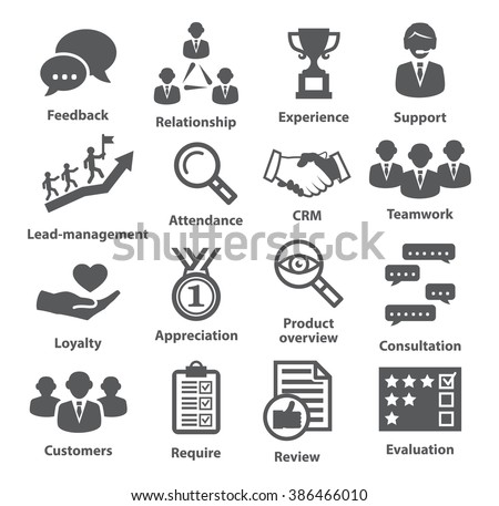 Business management icons. Pack 03. - stock vector