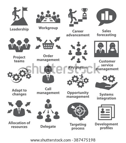 Business management icons. Pack 02. - stock vector