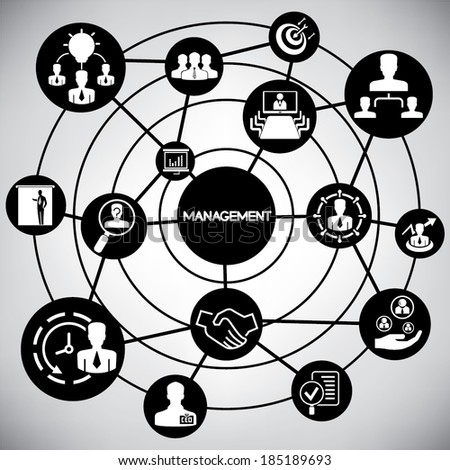 business management network, info graphic