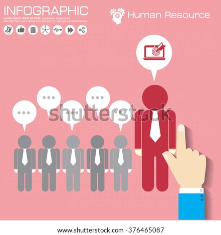Business management, strategy or human resource infographic. EPS 10 vector. Can be used for any project