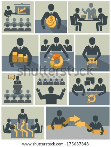 Business Management Training - stock vector