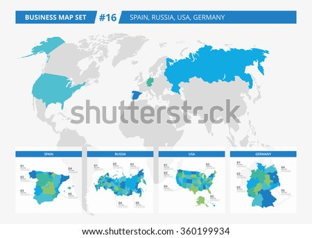 Business map set 16 - stock vector