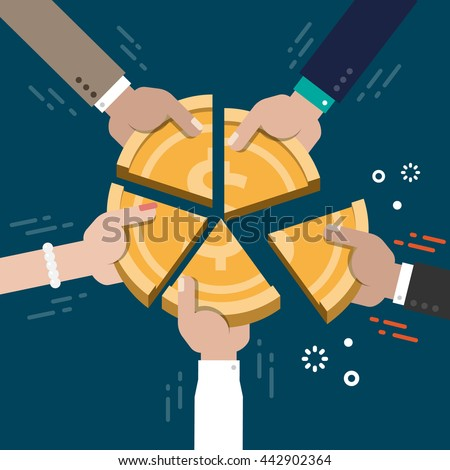 Business Market Share Competition Concept Illustration Vector - stock vector