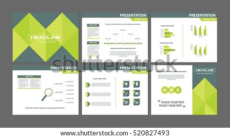 Business marketing presentation templates set six stock vector business marketing presentation templates set of six modern geometric financial report background vectors graphs accmission Image collections