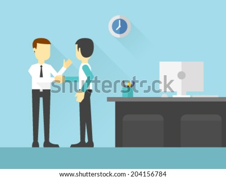 Business Meet-up - stock vector