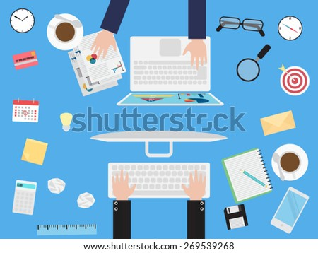 Business meeting - stock vector